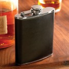 NLDA 7 oz. Leather-Wrapped Flask