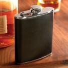 NLDA 7 oz. Leather-Wrapped Flask